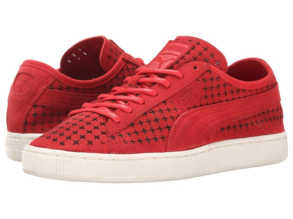 PUMA Sport Fashion - Suede Courtside Perf (High Risk Red) Men
