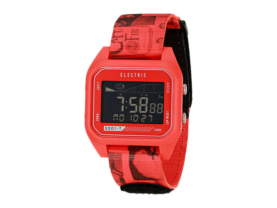 Electric Eyewear - ED01 - T Nato (Twin Fin Red) Watches