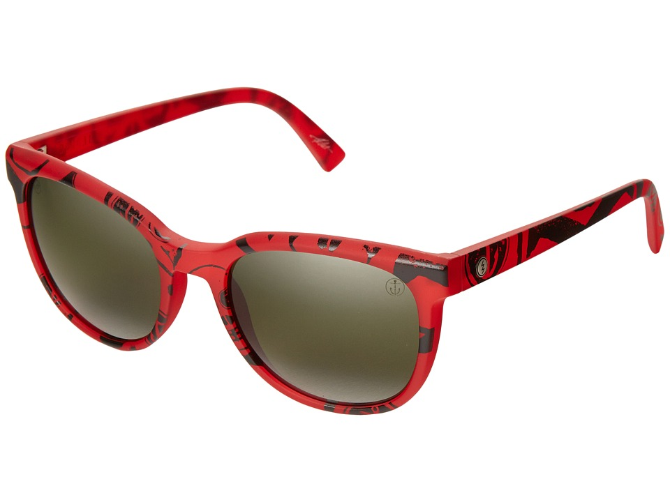 Electric Eyewear - Bengal (Twin Fin Red/Melaninice Grey Bi-Gradient Chrome) Sport Sunglasses