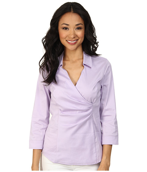 NYDJ - Fit Solution Wrap Blouse (Lilac Frost) Women
