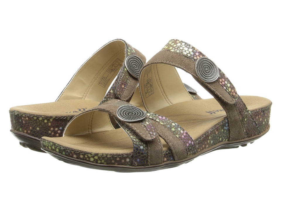 Romika - Fidschi 22 (Taupe Shiny Velour) Women's Sandals
