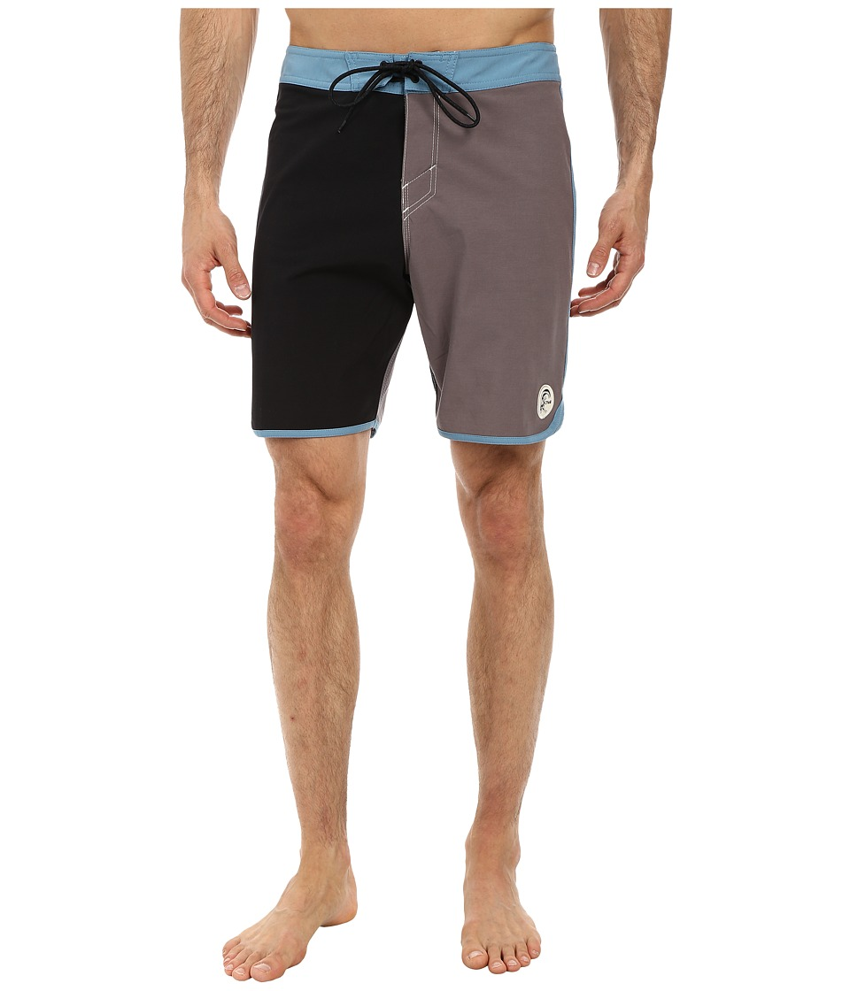 O'Neill - Santa Cruz Original Scallop Boardshorts (Black) Men's Swimwear