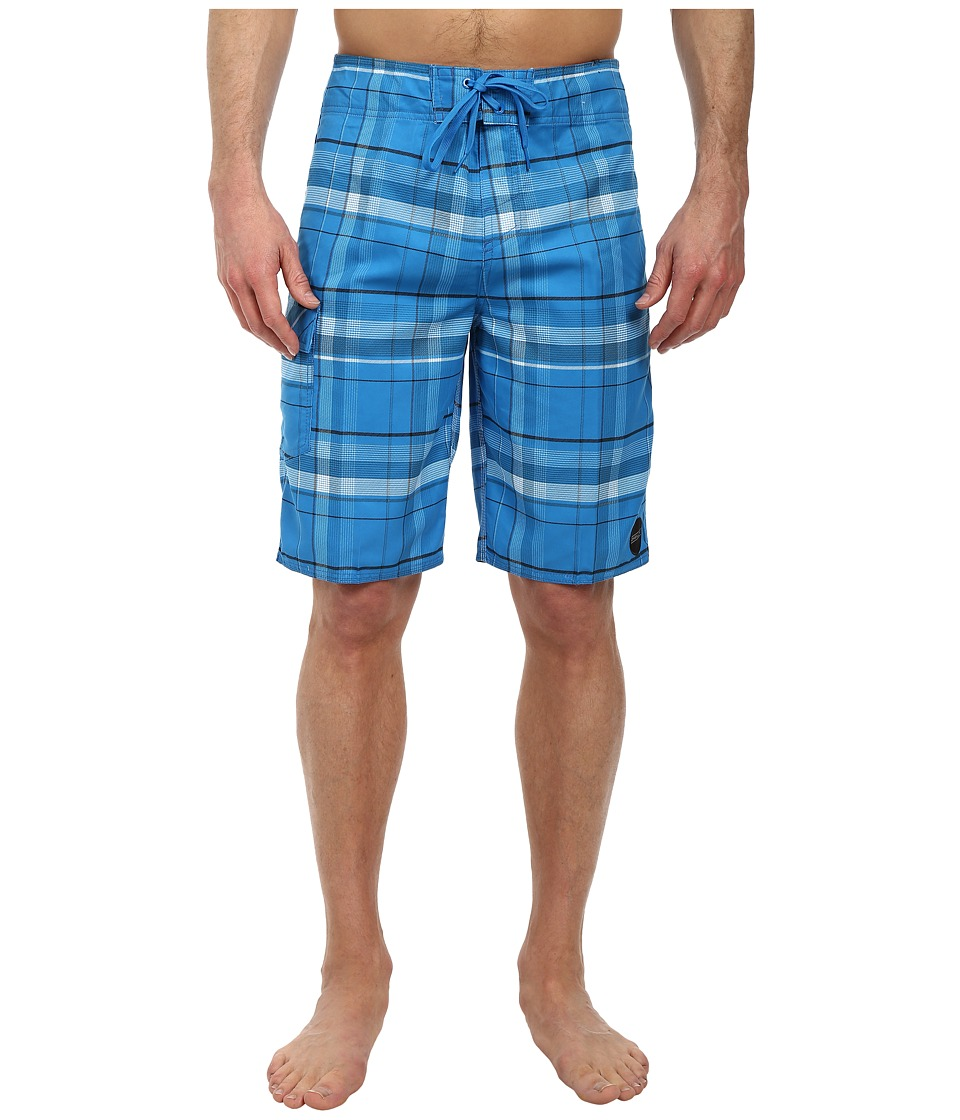 O'Neill - Santa Cruz Plaid Boardshorts (Blue) Men's Swimwear