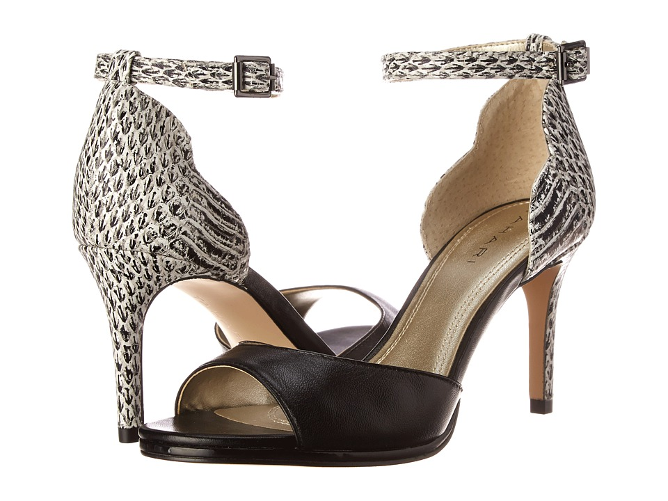 Tahari - Gea (Black Leather/Black/White Snake) High Heels