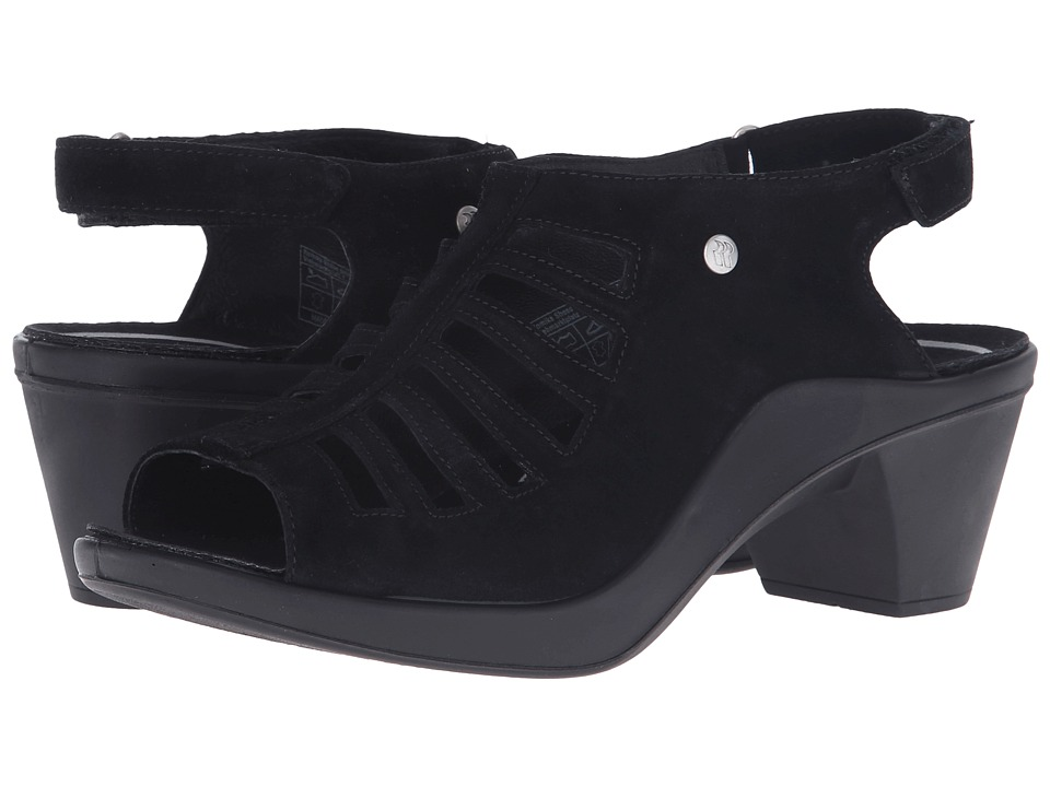 Romika - Mokassetta 287 (Black Kid Suede) Women's Clog/Mule Shoes