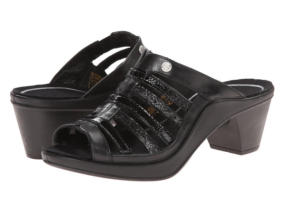 Romika - Mokassetta 285 (Black Roma/Kombi) Women's Clog/Mule Shoes