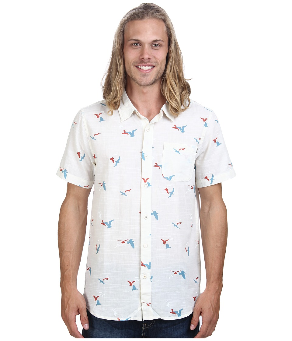 O'Neill - Gully Wovens (White) Men's Short Sleeve Button Up