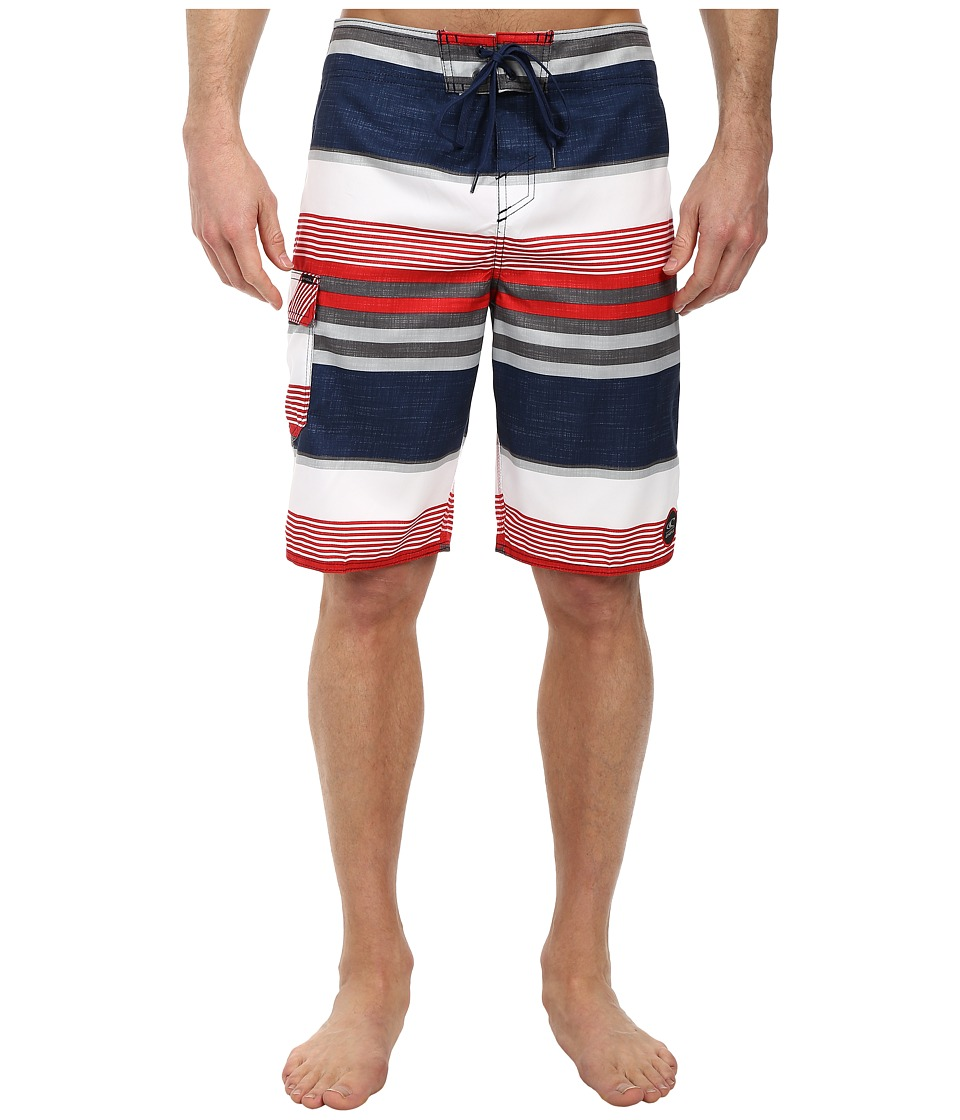 O'Neill - Santa Cruz Stripe Boardshorts (Dark Navy) Men's Swimwear