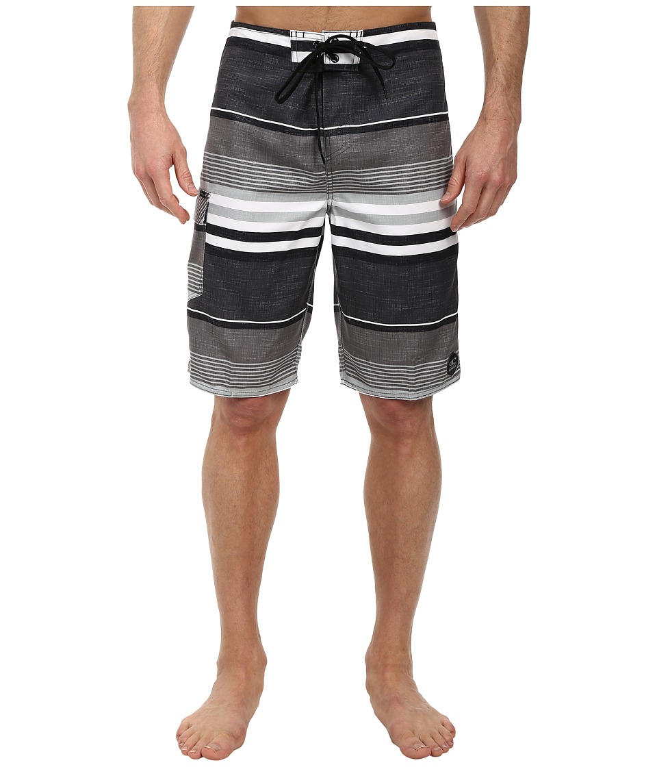 O'Neill - Santa Cruz Stripe Boardshorts (Grey) Men's Swimwear