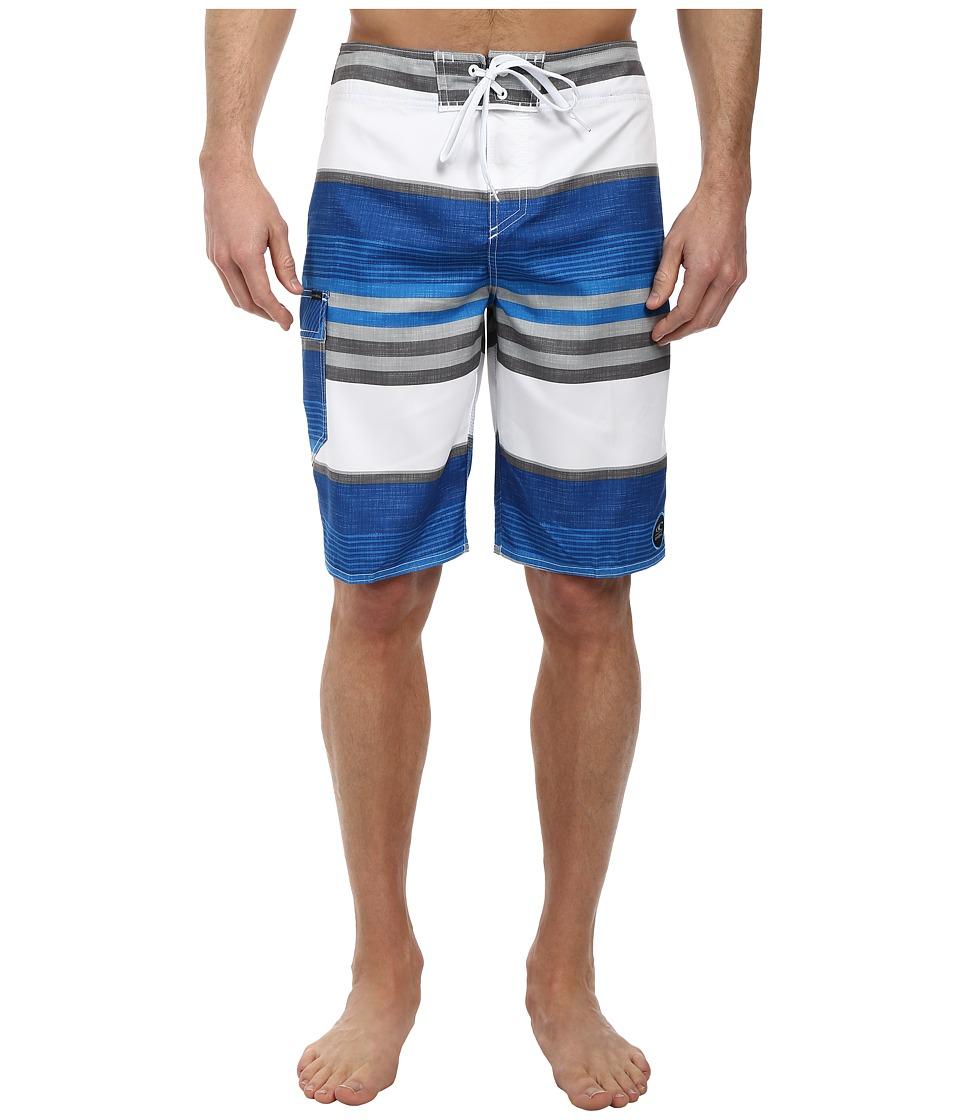 O'Neill - Santa Cruz Stripe Boardshorts (Blue) Men's Swimwear