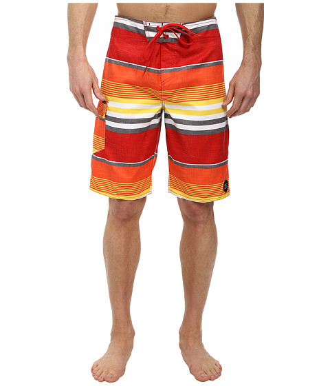 O'Neill - Santa Cruz Stripe Boardshorts (Orange) Men's Swimwear