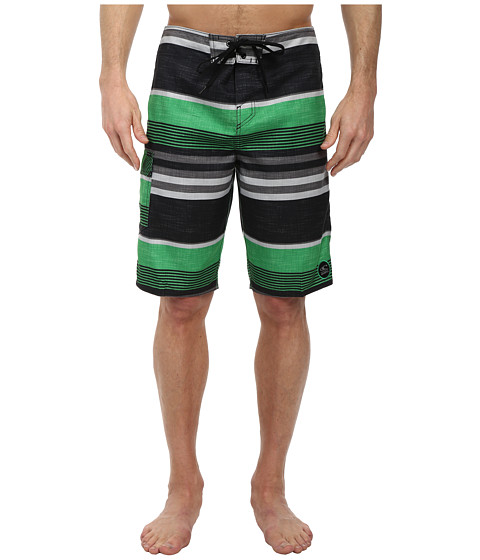 O'Neill - Santa Cruz Stripe Boardshorts (Green) Men's Swimwear