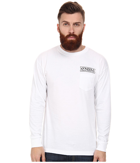 O'Neill - Team L/S Screen Tee (White) Men's T Shirt