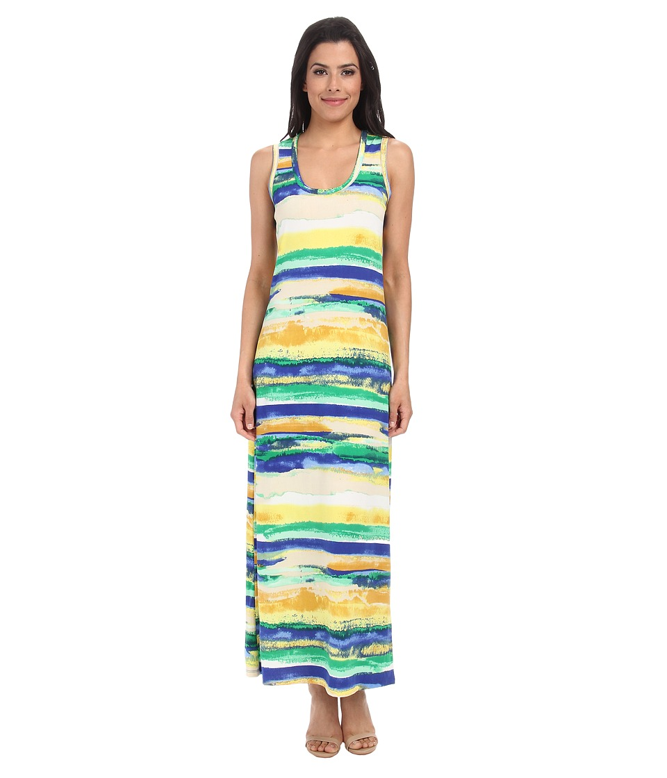 Culture Phit - Orianna Jersey Maxi Dress (Green Stripe) Women