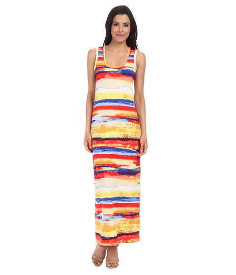 Culture Phit - Orianna Jersey Maxi Dress (Red Stripe) Women's Dress