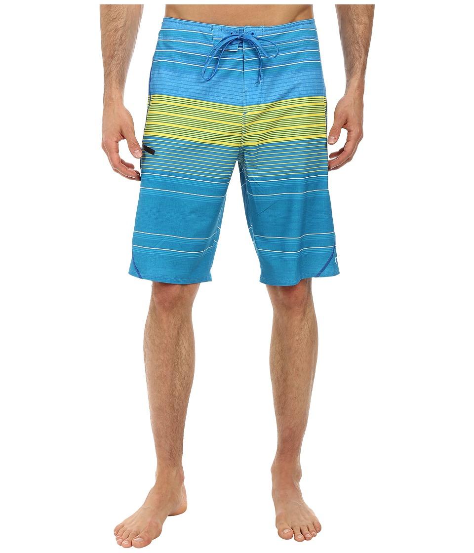 O'Neill - Stripe Freak Boardshorts (Blue) Men's Swimwear