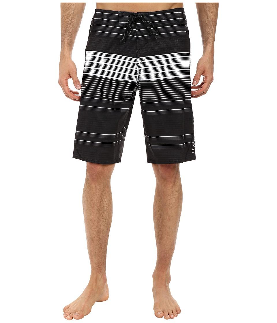 O'Neill - Stripe Freak Boardshorts (Black) Men's Swimwear