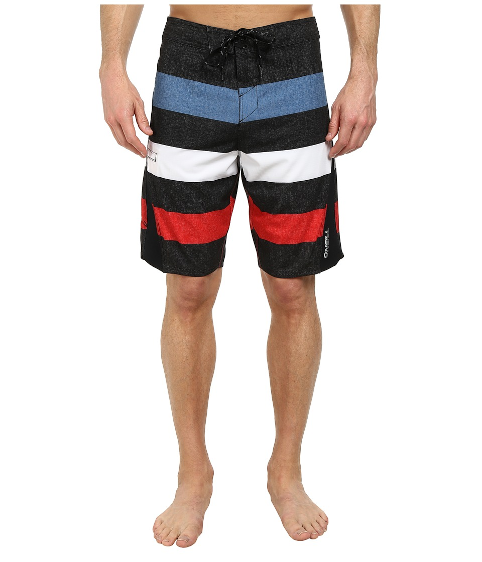 O'Neill - Superfreak Scallop Superfreak Series Boardshort (Black) Men's Swimwear