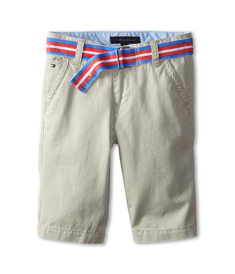 Tommy Hilfiger Kids - Twill Short Printed Belt (Big Kids) (Light Buff) Boy