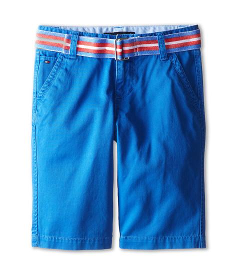 Tommy Hilfiger Kids - Twill Short Printed Belt (Big Kids) (Blue Bikini) Boy's Shorts