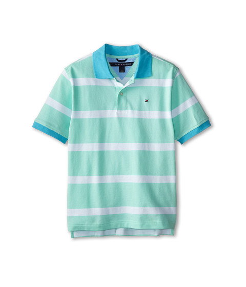 Tommy Hilfiger Kids - Alvin YD Stripe Polo (Big Kids) (Yucca Mint) Boy's Clothing