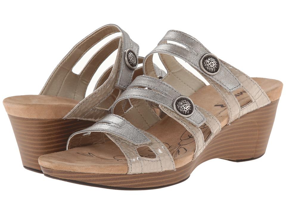 Romika - Jamaika 02 (Platin/Kombi Antik Metallic/Kroko) Women's Sandals