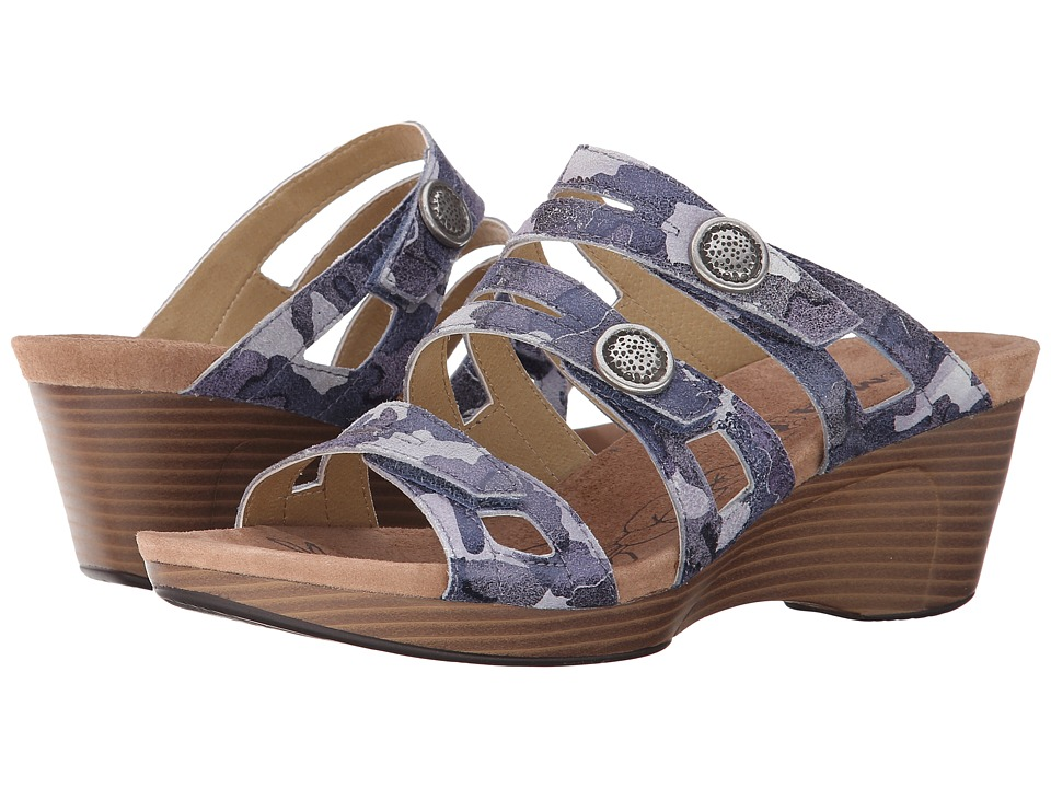 Romika - Jamaika 02 (Ocean Camouflage Suede) Women's Sandals