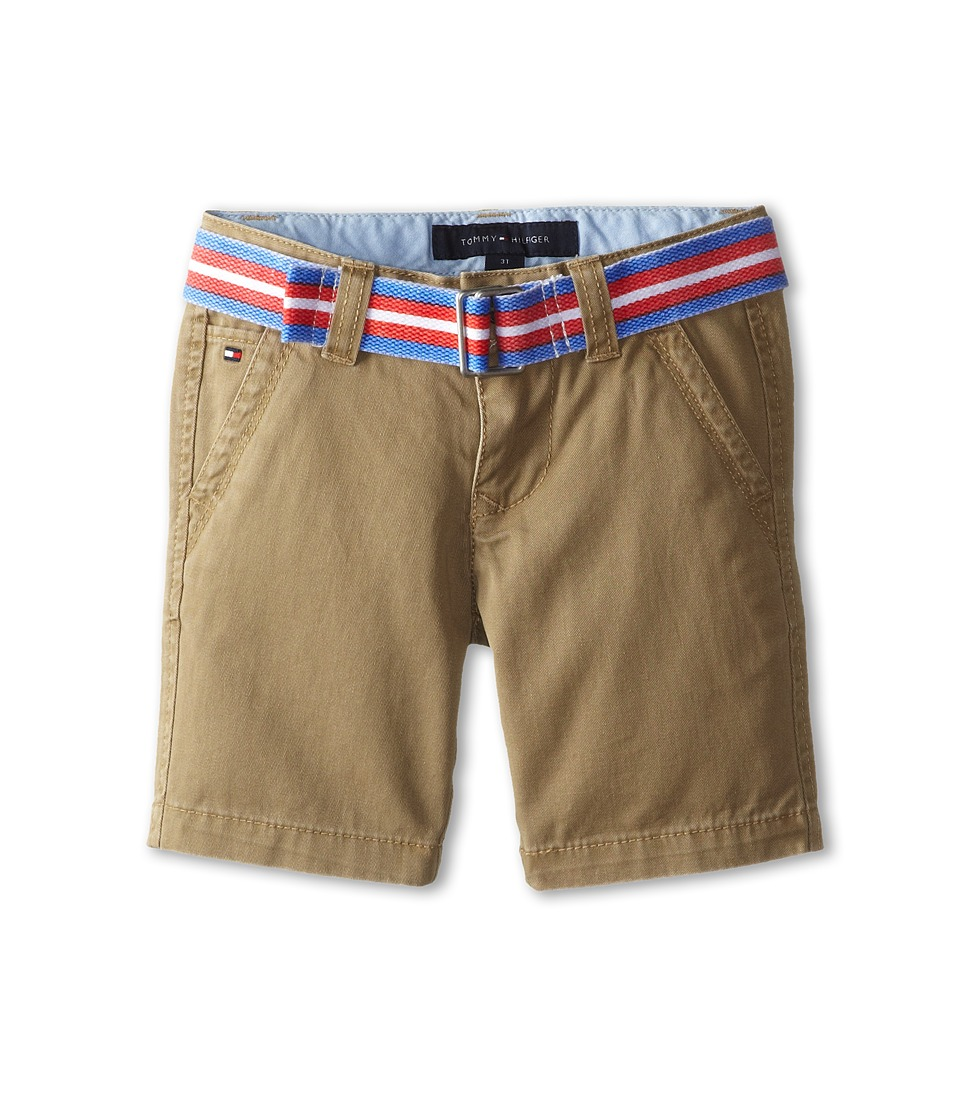 Tommy Hilfiger Kids - Twill Short Printed Belt (Toddler/Little Kid) (Light Buff) Boy