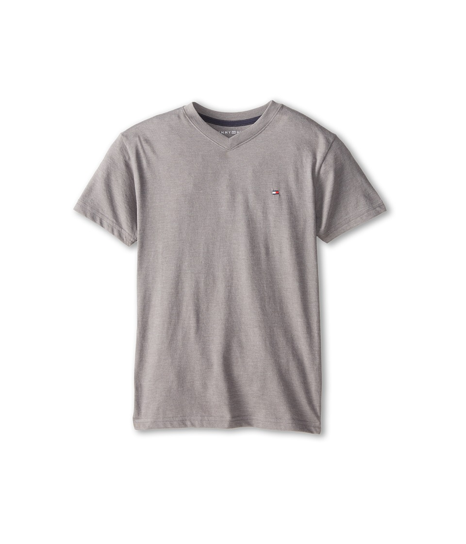 Tommy Hilfiger Kids - Tommy CVC V-Neck Tee (Big Kids) (Steel Grey) Boy's T Shirt