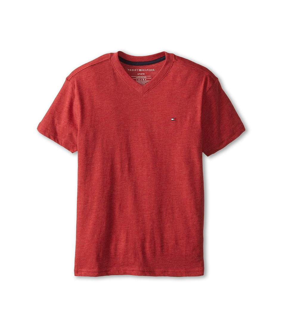 Tommy Hilfiger Kids - Tommy CVC V-Neck Tee (Big Kids) (Bulls Eye) Boy's T Shirt