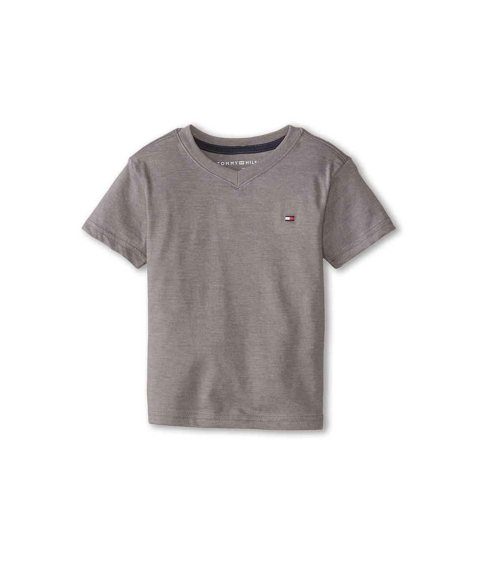Tommy Hilfiger Kids - Tommy CVC V-Neck Tee (Toddler/Little Kid) (Steel Grey) Boy's T Shirt