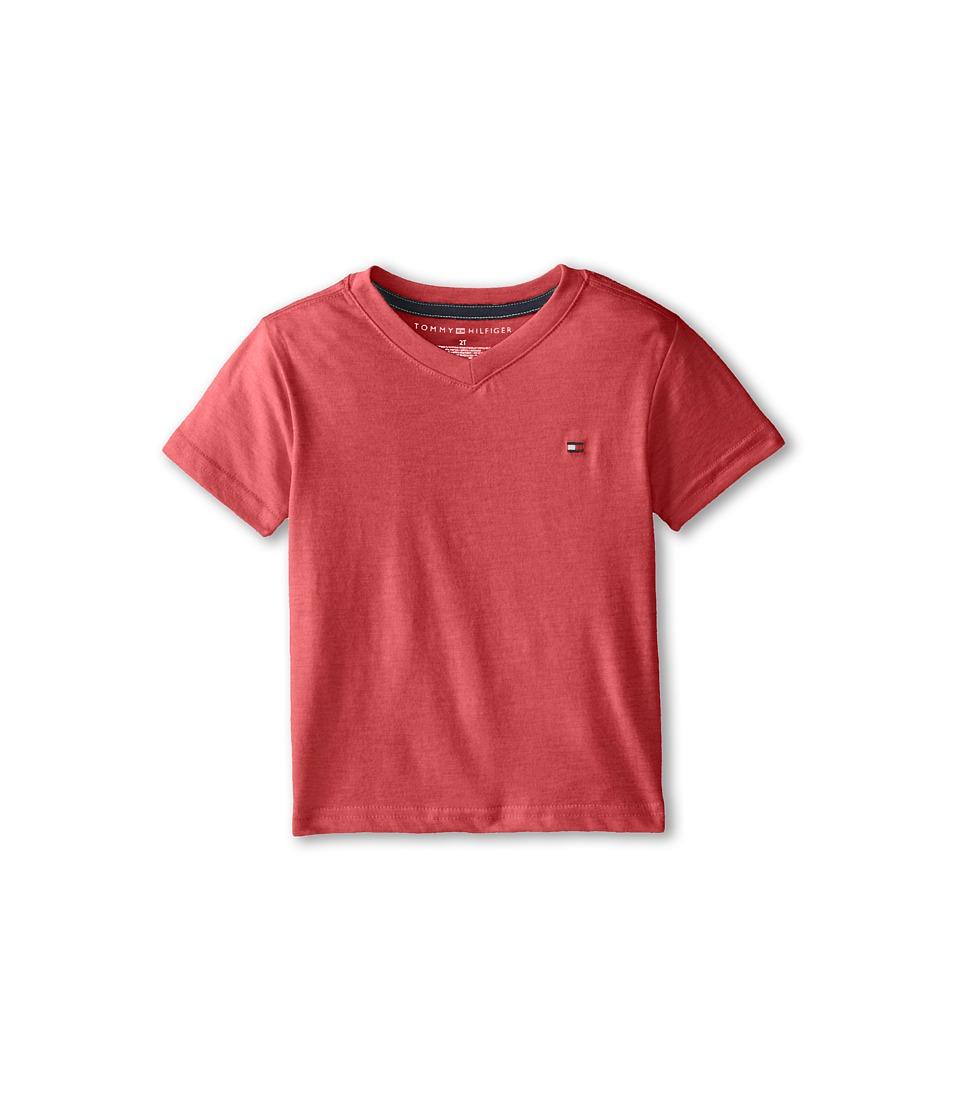 Tommy Hilfiger Kids - Tommy CVC V-Neck Tee (Toddler/Little Kid) (Bulls Eye) Boy's T Shirt