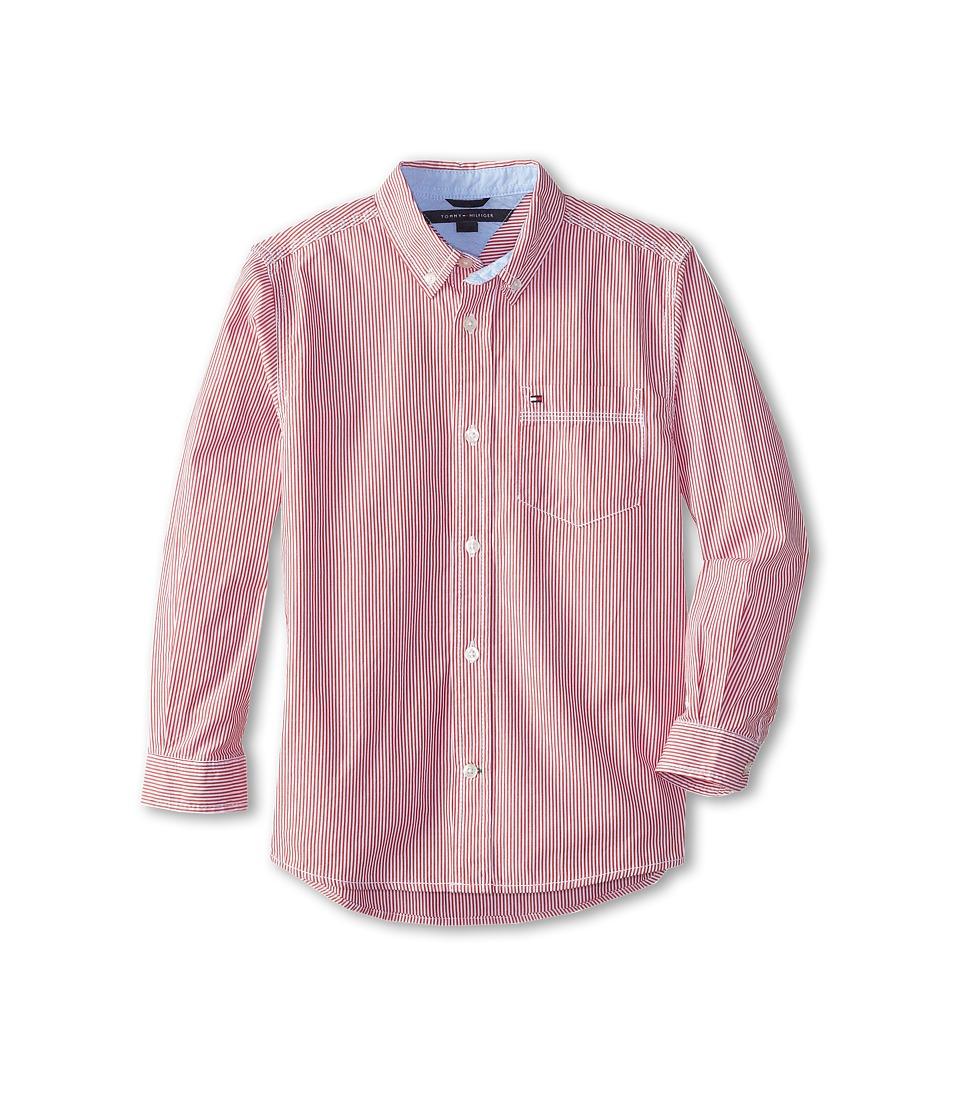 Tommy Hilfiger Kids - Tommy Stripe Shirt (Toddler/Little Kids) (Bulls Eye) Boy's Long Sleeve Button Up