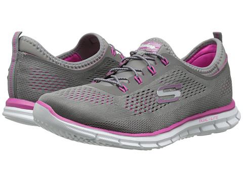 SKECHERS - Harmony (Grey/Pink) Women's Shoes