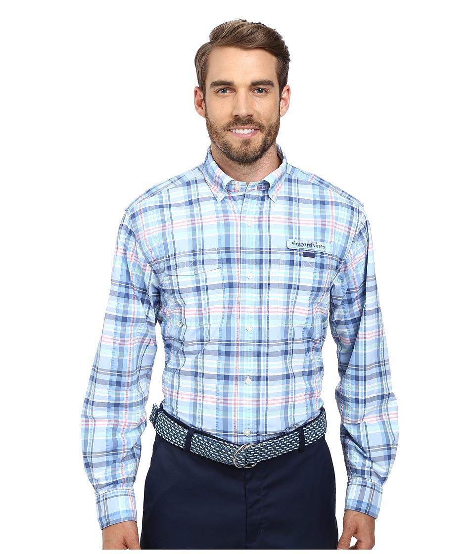 Vineyard Vines - Gustaf Plaid Harbor Shirt (Ocean Breeze) Men