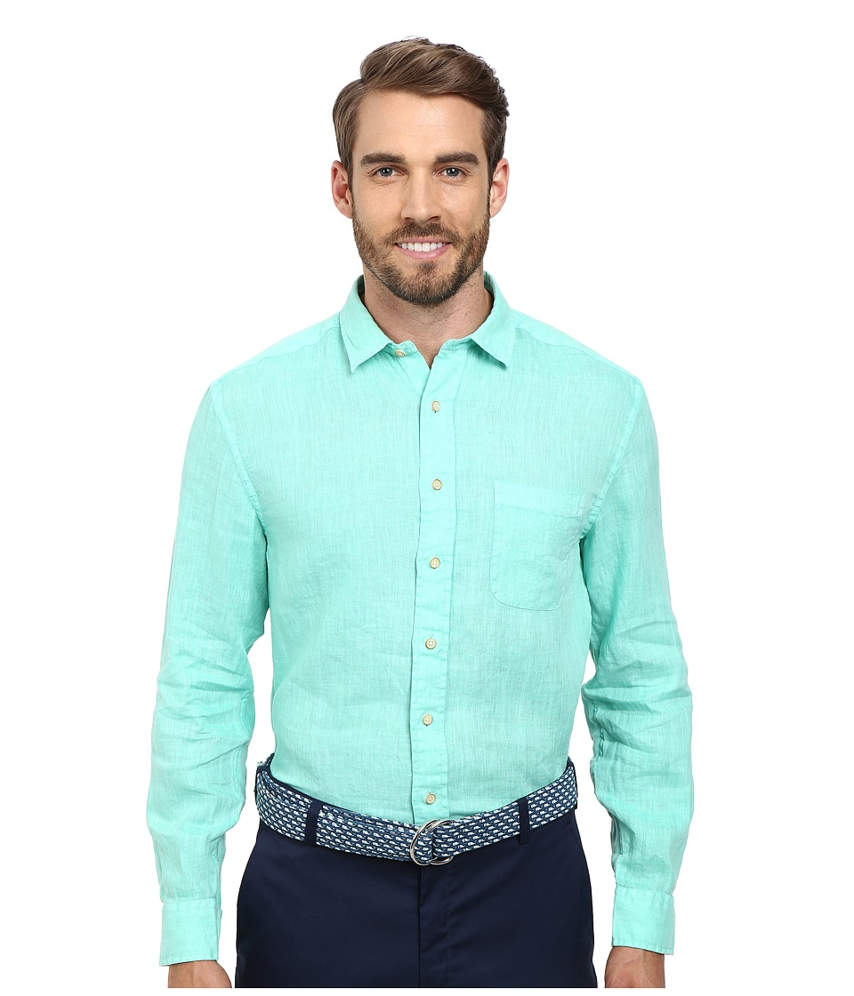 Vineyard Vines - Seahorse Linen Solid (Antigua Green) Men's Clothing