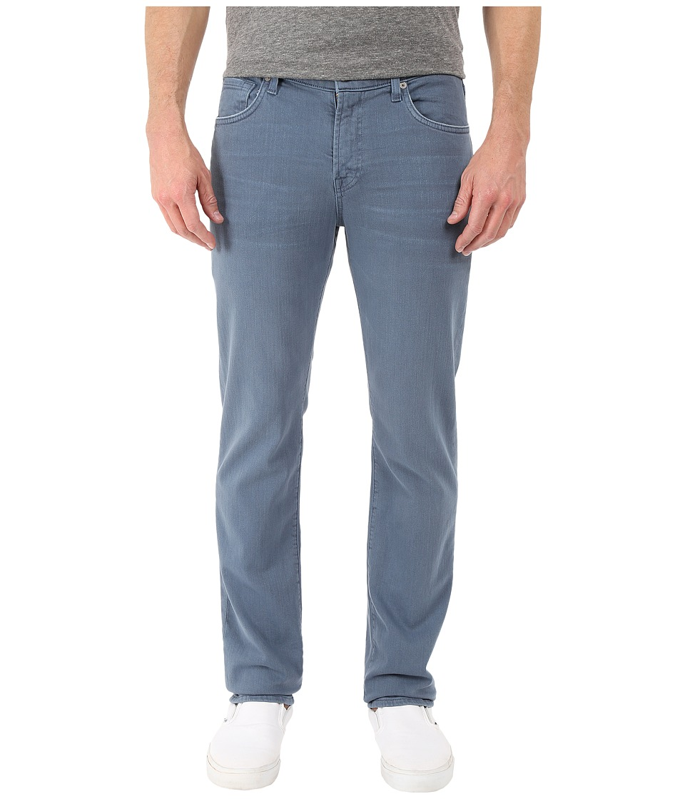7 For All Mankind - Luxe Performance Slimmy Slim Straight in Twill Colors (Slate) Men's Casual Pants