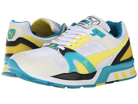 PUMA - Trinomic XT 2 Plus (White/Vaprous Grey/Buttercup/Capri Breeze) Running Shoes