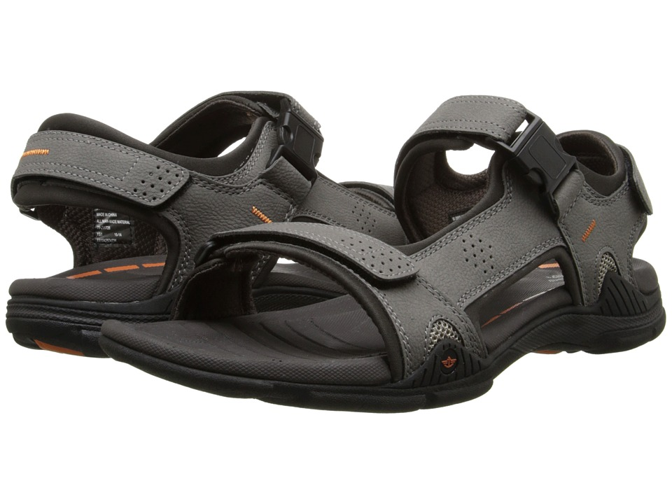 Dockers - Bonsall (Charcoal/Charcoal/Orange) Men's Sandals