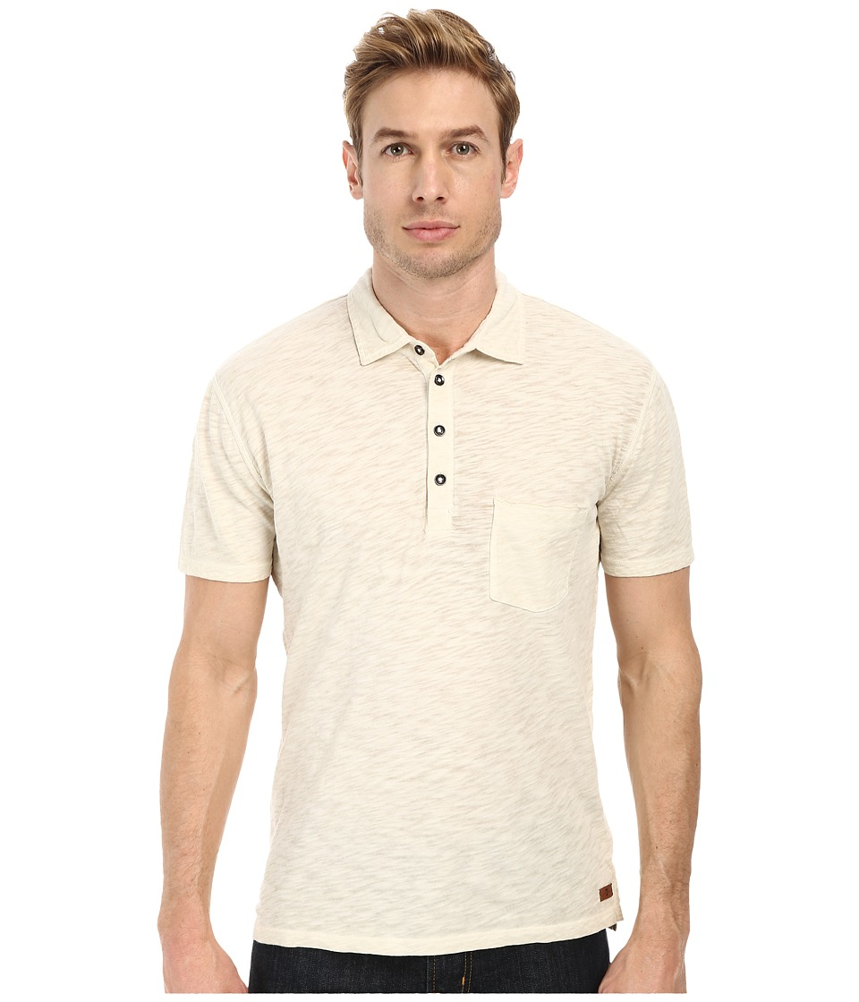7 For All Mankind - Raw Placket Polo (Oatmeal) Men's Short Sleeve Pullover