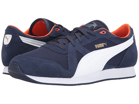 PUMA - TF-Racer Mesh (Peacoat/White/Nasturtium) Athletic Shoes