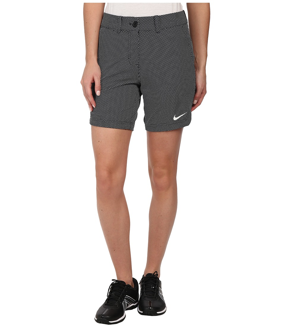 Nike Golf - Greens Dot Short (Black/White/White) Women