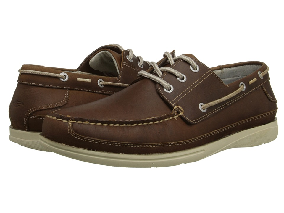 Dockers - Midship (Dark Tan Oily Crazyhorse) Men's Slip on Shoes