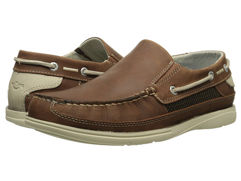 Dockers - Chalmers (Tan Oily Crazyhorse) Men's Slip on Shoes
