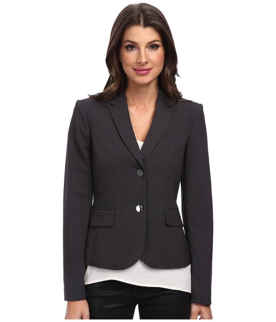 Calvin Klein - 2 Button Jacket (Charcoal) Women's Jacket