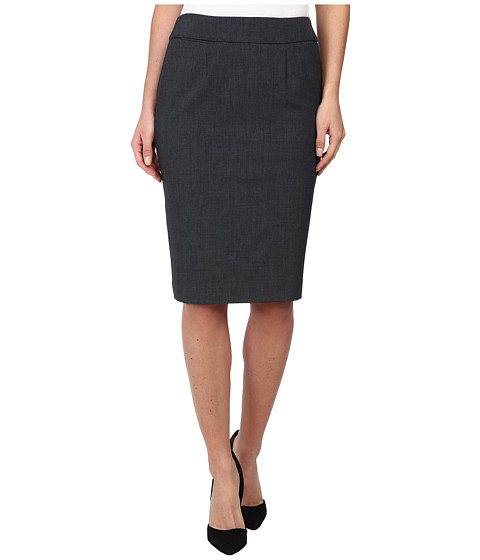 Calvin Klein - Straight Pencil Skirt (Charcoal) Women's Skirt