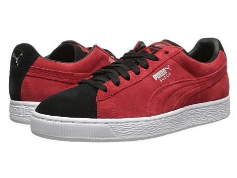 PUMA - Suede Classic + (High Risk Red/Black) Athletic Shoes