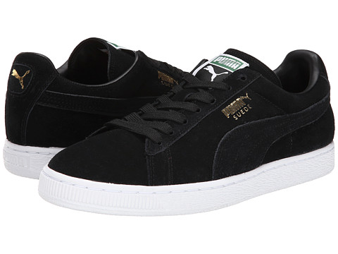 PUMA - Suede Classic (Black/Team Gold/White) Shoes