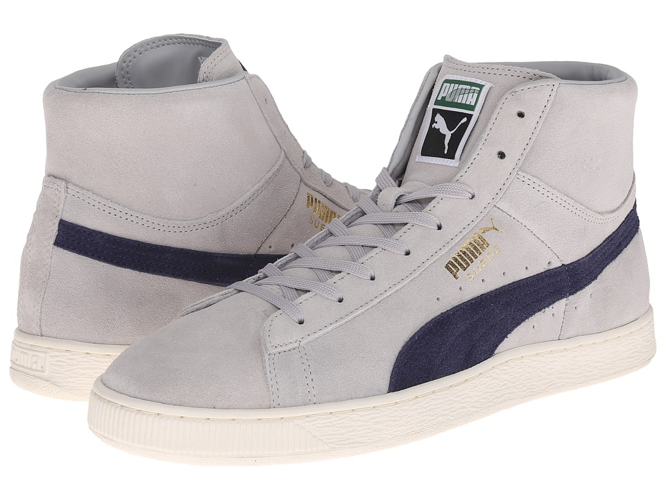 PUMA - Suede Mid Classic + (Grey Violet/Peacoat) Athletic Shoes