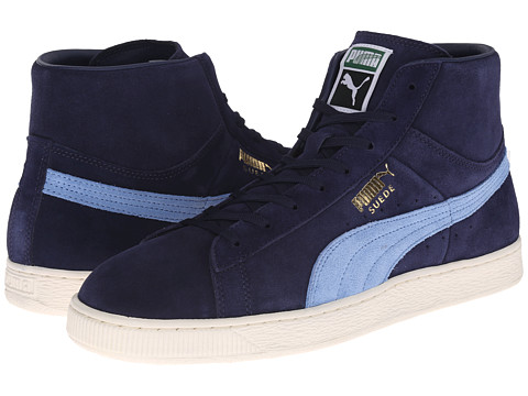 PUMA - Suede Mid Classic + (Peacoat/Little Boy Blue) Athletic Shoes